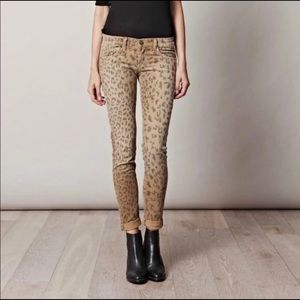 Current Elliot Stiletto Camel/Leopard Jeans